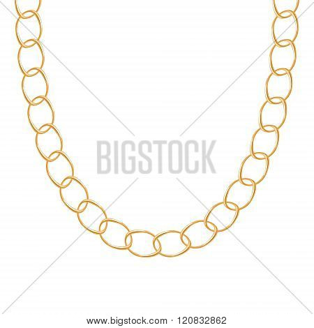 Chunky chain golden metallic necklace or bracelet.
