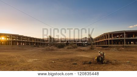 Uncompleted Resort Building, Abandonned In Egypt