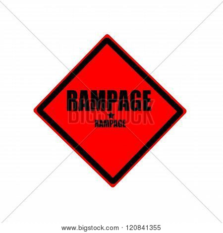 Rampage Black Stamp Text On Red Background