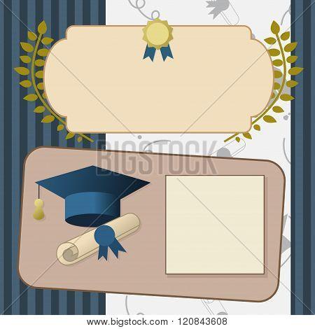 Gold Graduation Invitation Vintage Certificate