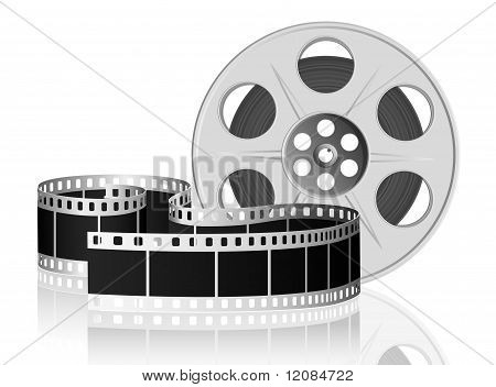 Twisted film for movie. Vector Illustration.