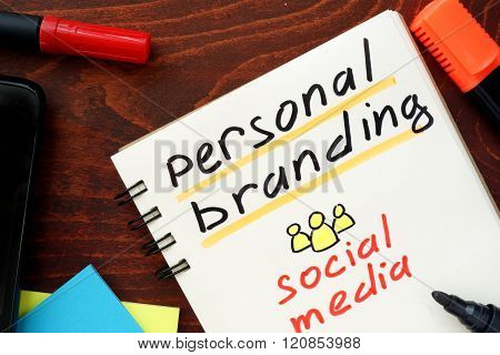 Personal Branding written in a notebook.