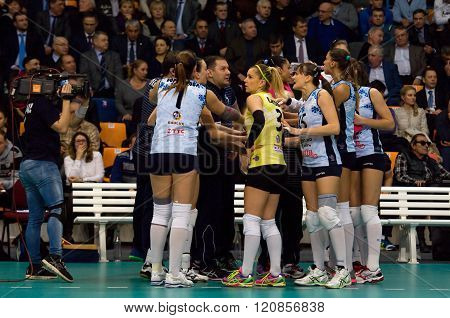 Dynamo Kazan Team On Timeout