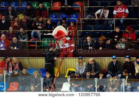 Mascot Of Spartak Team On Tribune