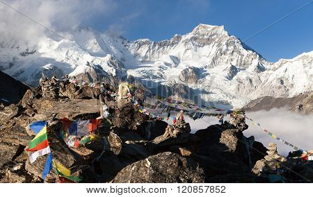 View From Gokyo Ri To Mount Gyachung Kang 7952M