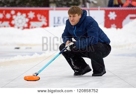 Curling Player D. Abanin