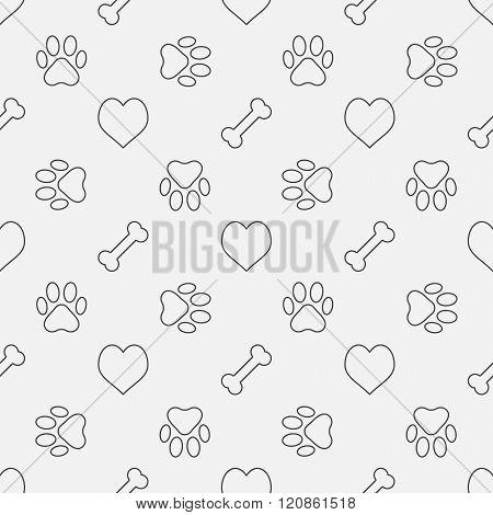 Dog minimal pattern