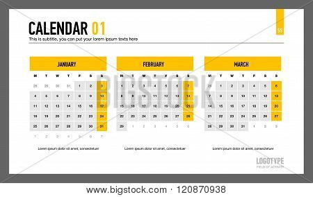 Calendar Presentation Slide