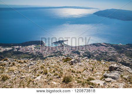 View On The Makarska Riviera Coastline From Biokovo Mountain - Biokovo Nature Park Dalmatia Croatia