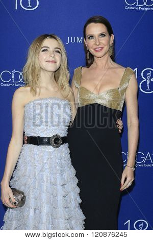 LOS ANGELES - FEB 23: Kiernan Shipka, Janie Bryant at the 18th Costume Designers Guild Awards at the Beverly Hilton Hotel on February 23, 2016 in Beverly Hills, California