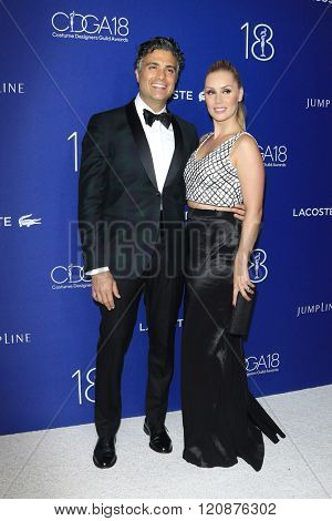 LOS ANGELES - FEB 23: Jaime Camil, Heidi Balvanera at the 18th Costume Designers Guild Awards at the Beverly Hilton Hotel on February 23, 2016 in Beverly Hills, California