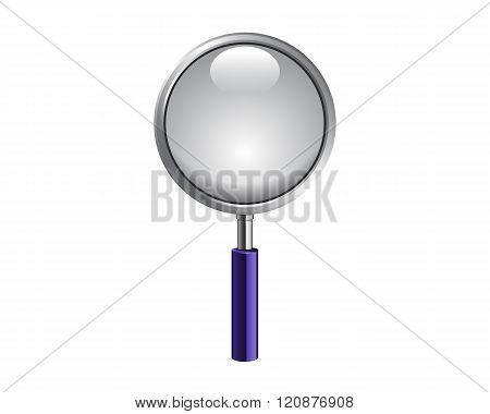 Magnifying Glass Isolated On White Photo-realistic Vector Illustration