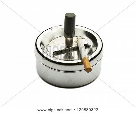 Bad Addiction. Ashtray And Cigarette