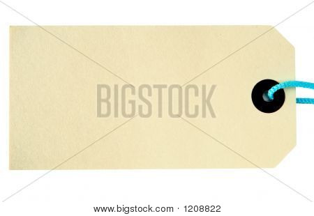 Label Tag On A White Background.
