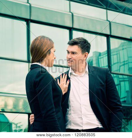 Businessman Harasses Businesswoman On Work