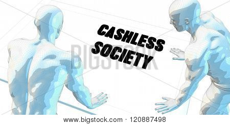 Cashless Society Discussion and Business Meeting Concept Art