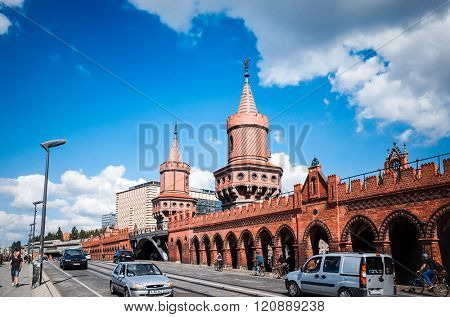 BERLIN, GERMANY- July 30: Traditional old buildings. Beautiful street view of Traditional old buildings in Berlin on July 30, 2014. BERLIN, Germany.