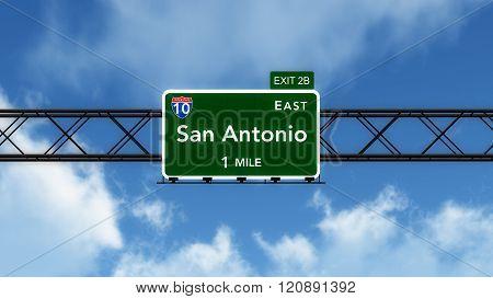 San Antonio Usa Interstate Highway Sign