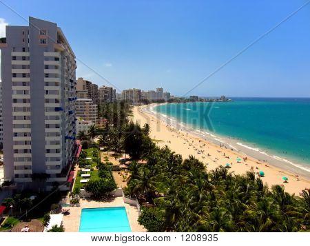 Isla Verde Beach In San Juan, Puerto Rico, Usa.