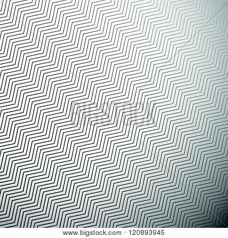 Abstract Monochrome Pattern With Wavy Zigzag Diagonal Lines