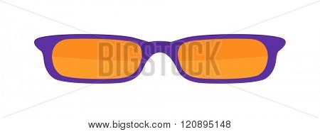 Vector Sunglasses isolated on white background. Purple Sunglasses. Hipster fashion sunglasses. Summer sunglasses vector illustration. Sunglasses isolated vector illustration