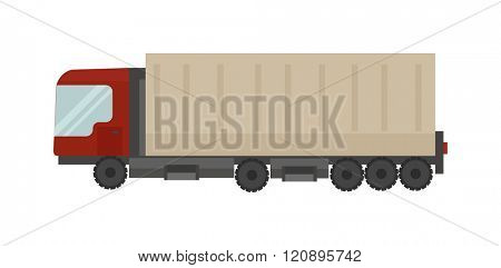Cargo truck vector illustration. Cargo truck isolated on white background. Cargo truck vector icon illustration. Cargo truck isolated vector. Cargo truck silhouette