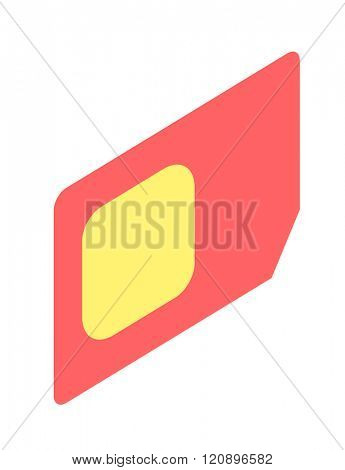 SIM card isometric vector illustration. SIM card isometric isolated on white background. SIM card isometric vector icon illustration. SIM card isometric isolated vector. SIM card isometric silhouette