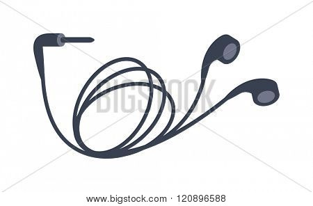 Mobile headphones vector illustration. Mobile headphones isolated on white background. Mobile headphones vector icon illustration.Mobile headphones isolated vector. Mobile headphones silhouette