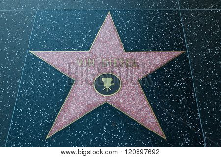 Vin Diesel Hollywood Star