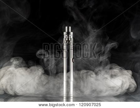 Electronic Cigarette Over A Dark Background