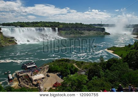 Landscape of Niagara Falls on a great summer day