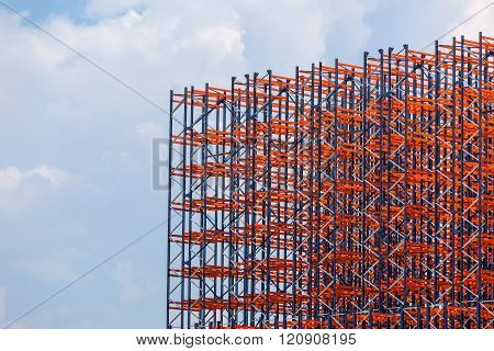 Metal Construction On The Sky Background