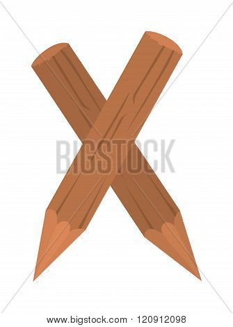 Stake pole vector illustration.