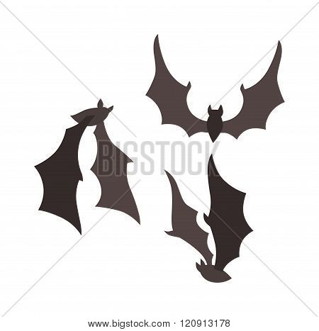 Vampire bat vector illustration