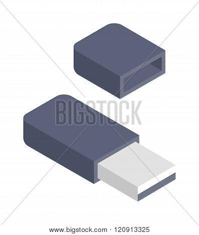 Flash drive vector illustration