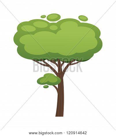 Cartoon tree vector illustration isolated on white background