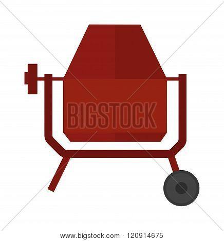 Concrete mixer vector illustration.