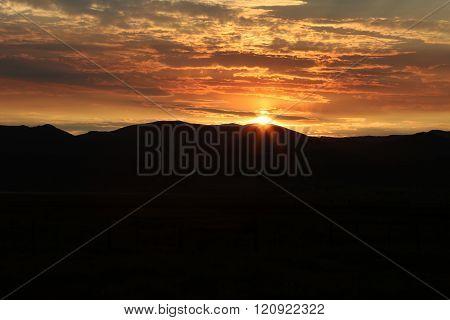 Dramatic Mountain Sunrise