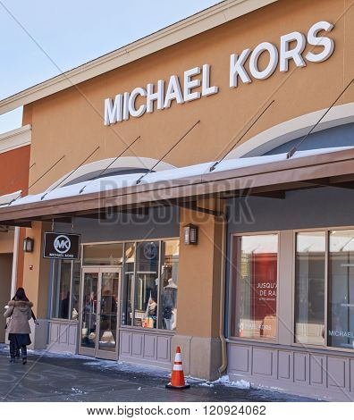 MONTREAL CANADA - MARCH 6 2016 - Michael Kors outlet in Premium Outlets Montreal. The Premium Outlets is the second Premium Outlet Center in Canada located in Mirabel Quebec.