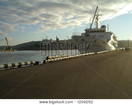 Ship In Murmansk Port