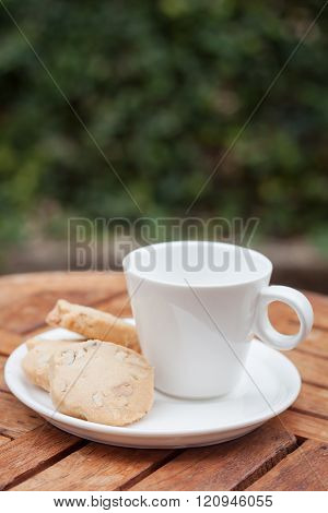 Cashew Cookies With Coffee Cup