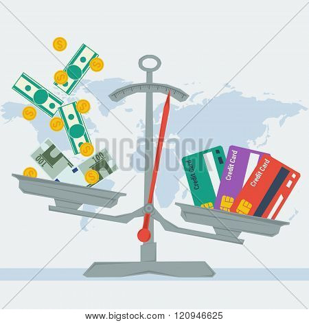 Scales - Credit Card Or Money