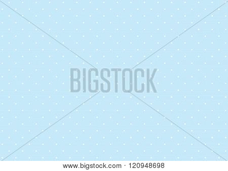 Simple polka dot pattern of blue and white dots background