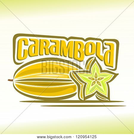 Vector illustration on the theme of carambola