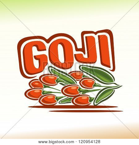 Vector illustration on the theme of goji