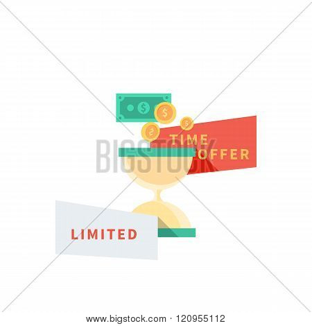 Sale Badge Time Offer Limited