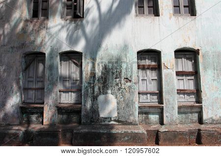 colonial building in the town of Yangon, Myanmar