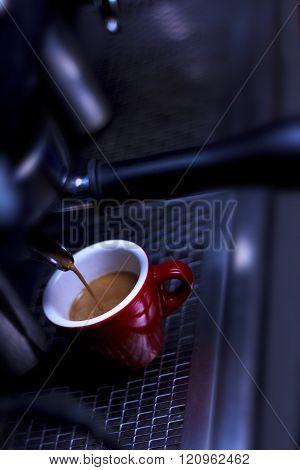 Espresso getting ready