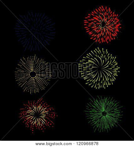 fireworks and happy new year