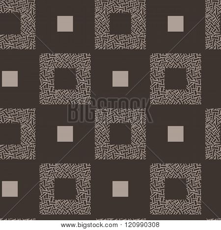 Vector seamless pattern of intertwined ribbons
